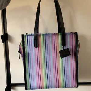 Forever21 Rainbow Stripe Tote Bag